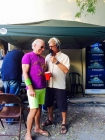 Jimmy Buffett and Jack Smith before the Set List Concert at the San Carlos Theater